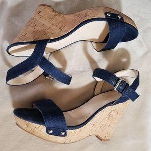 Nine West Denim Wedges ( Sandals).